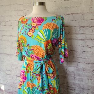 Trina Turk Tokyo Bay Floral Short Cover Up Dress
